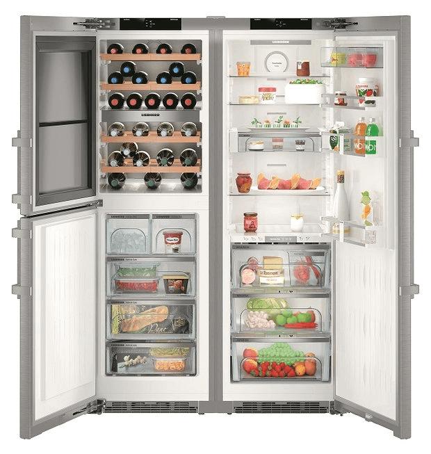 Liebherr side by side fridge freezer